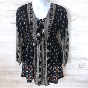 NWT FRANCESCA'S FLYING TOMATO Tribal Floral Dress